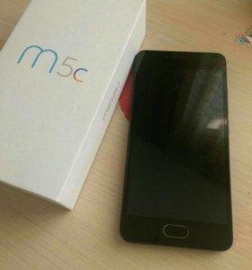meizu m5c 32/3 чёрный. полный комплект!