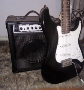 Электро гитара с усилителем