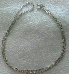 Серебряная цепочка и кольцо