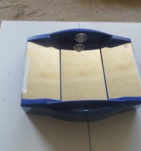 Шкаф в ванную синий