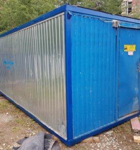 Бу Бытовка металлическая, Блок котейнер 6м