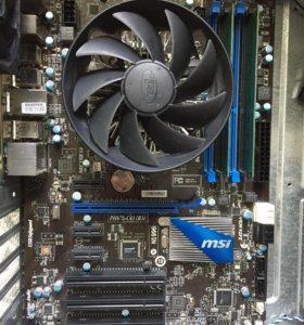 i52300+4gb+Материнская плата+Кулер(сокет 1155)