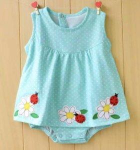 Платье-боди для девочки