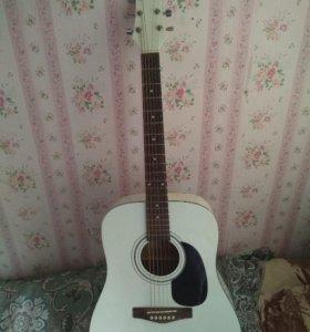 Акустическая гитара чехол в подарок и медиатр