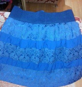 Юбка синяя