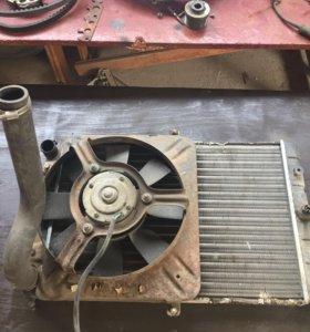 Радиатор с вентилятором 2109