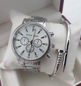 Набор часы+браслет+коробка Michael Kors