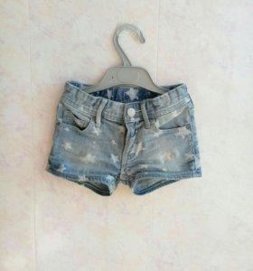 джинсовые шорты детские, 2-3года