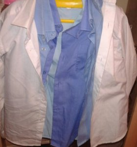 рубашки на мальчика белые,голубые,синие.