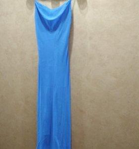 Васильковое платье сарафан