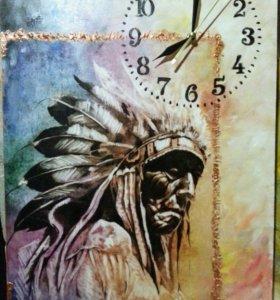 Настенные часы индеец