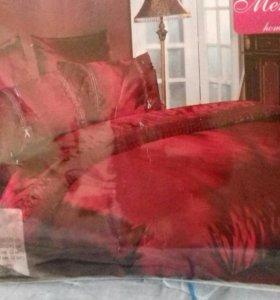 Новое постельное белье двухспалка (шелк )