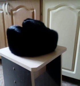 Норка черный брильянт новая размер 57