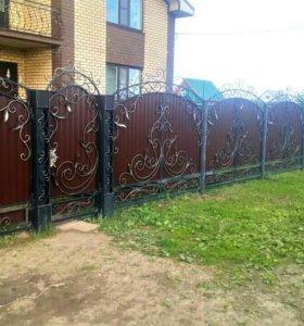 Кованые качели беседки,ворота,забор.