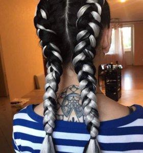 Сделаю причёску из кос и выпускные, окрашу волосы