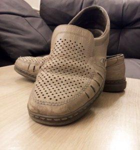 Туфли летние мужские,натуральная кожа