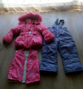 Зимний костюм 3-ка. р.104-110+