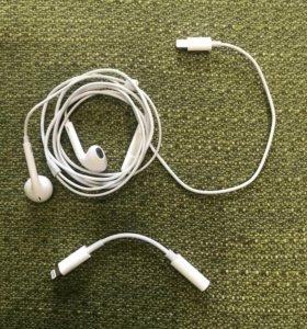 Наушники для IPhone 7+переходник
