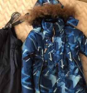 Зимний костюм (куртка, комбинезон) на мальчика
