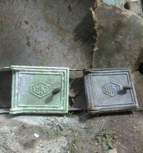 Дверцы на печь б.у