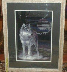 "Картина ""Одинокий волк"""