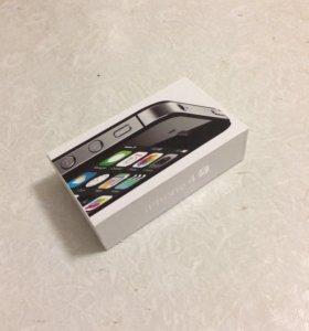 Коробка от айфона 4s с документацией