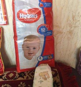 Подгузники HUGGIES CLASSIC размер 4 (7-18 кг)