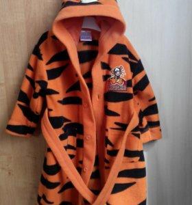 Детский халат в виде тигра