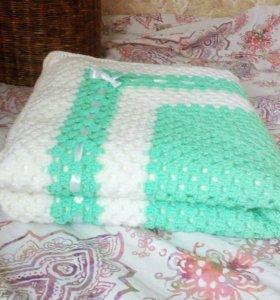 Деткий плед-одеяло для новорожденного.