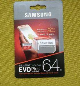 Микро SD EVO 64 GB