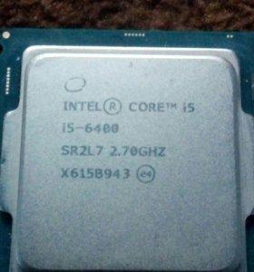 Intel i5 6400 s-1151 4 ядра 2.7 ГГц-3.3 ГГц турбо.