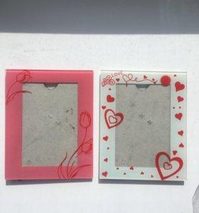 Рамки для фото стеклянные
