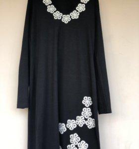 Платье трикотажное, р 50-52