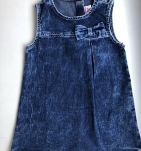 Платье для девочки джинсовое 12-18