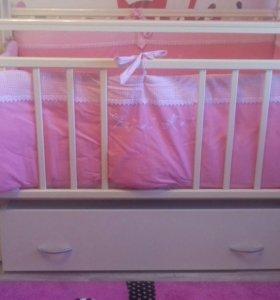 Кроватка Аэлита 4.с новым матрасом