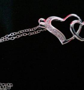 Цепочка и кулон серебро 925