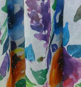 Тюль с цветами