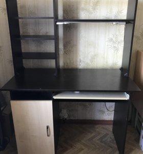 Компьютерный стол 110*60*75 с надставкой
