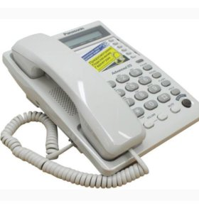 Телефон Panasonic, с громкой связью и ЖК-дисплеем