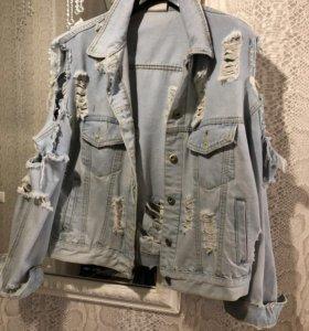 Очень модная Джинсовая куртка размер 42-44
