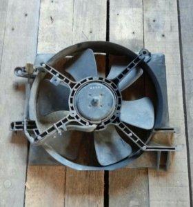 Электро вентилятор с рамкой на Matiz.