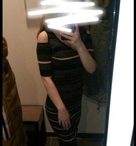 Длинное обтягивающее платье
