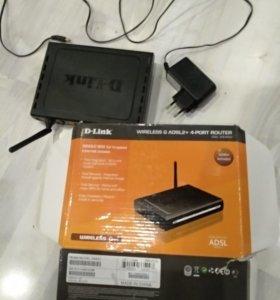 Wi-Fi роутер. D-Link. DSL