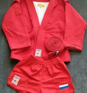 Самбовка, кимоно для самбо детский + шорты