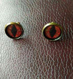 """Серьги """"Глаза"""". Красные"""