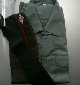 Рубашка военная оливковая