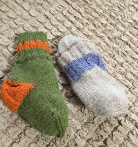 Носки шерстяные, сами вязали