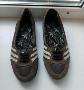 Балетки (кеды) Adidas новые 37 р-р нат.кожа+замш