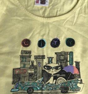 Хлопковая футболка Sela