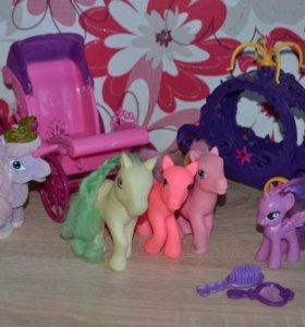 Filly и My Little Pony с каретами